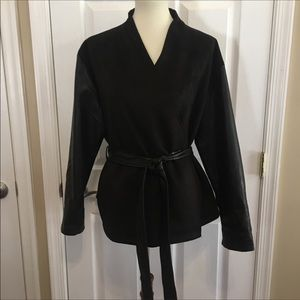 NWT French Connection Black Tie Front Jacket Small